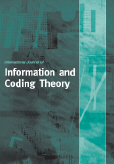 International Journal of Information and Coding Theory (IJICoT)